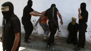 Расстрел палестинцев в Газе