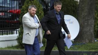 "Андрей Пургин (""ДНР"") и Алексей Карякин (""ЛНР"") в Минске"