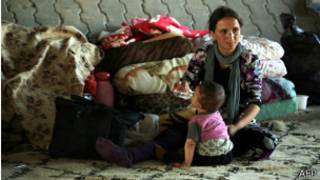 Refugiados de la minoría Yazidi