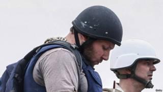 Steven Sotloff trabajando en Irak.