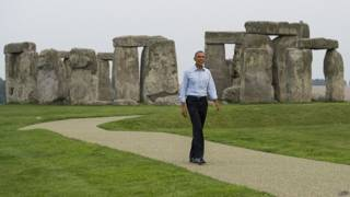 Обама в Стоунхендже