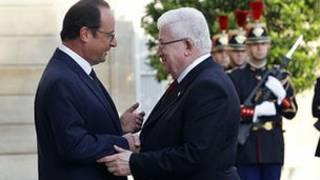 Shugaba Hollande na Faransa da Masum na Iraki