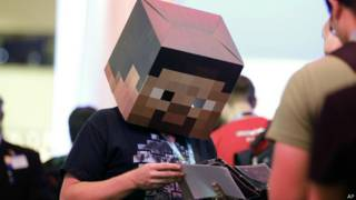 Игрок в Minecraft