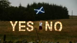 蘇格蘭舉行是否獨立的公民投票前夕最後的宣傳攻勢
