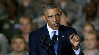 फ्लोरिडा में आईएस पर भाषण देते राष्ट्रपति बराक ओबामा