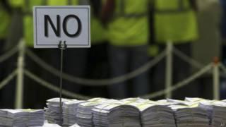 Бюллетени на референдуме в Шотландии