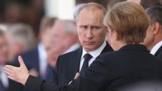 Ангела Меркель Владимир Путин