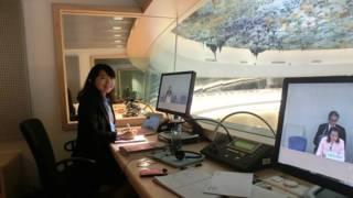 程慕晞在日內瓦的聯合國同傳廂