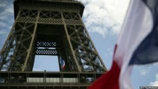 برجل ايفل في فرنسا