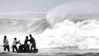 भारत में समुद्री तूफान