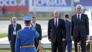 Владимир Путин прибыл в Белград