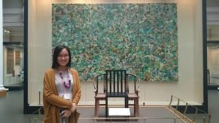 李曉欣在V&A博物館中國展廳