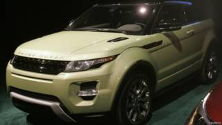 Range Rover Evoque vehicle displayed in Detroit