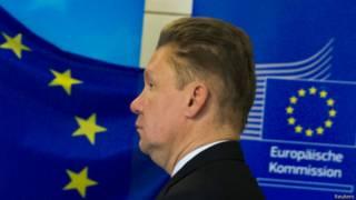 """Глава """"Газпрома"""" Алексей Миллер на переговорах по газу в Берлине, 26 сентября 2014 г."""