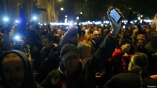 Демонстрация в Будапеште