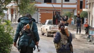 Kobani'deki savaşçılar