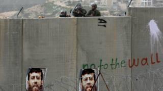 """""""Стена безопаности"""", разделяющая Израиль и Западный берег реки Иордан"""