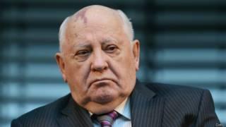 Михаил Горбачев в Берлине 8 ноября 2014 г.