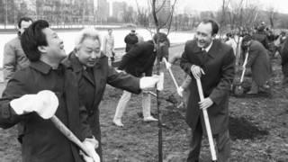 Северокорейский политик Цой Рён Хэ в Москве в 1987 году