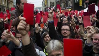 Демонстрация в Праге