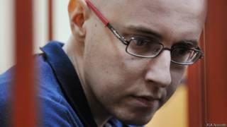Илья Горячев в Басманном суде в январе 2014 года