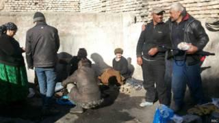 Бездомные в Душанбе