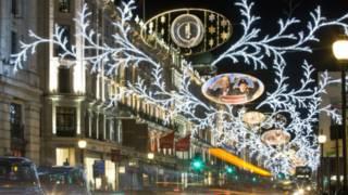 倫敦攝政街的聖誕燈