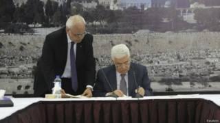 फलस्तीनी राष्ट्रपति महमूद अब्बास