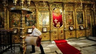 Интервьер церкви Св.Георгия в Стамбуле