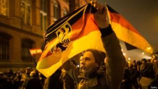 Protesto anti-islã em Dresden (Getty)