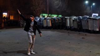 Протесты у российского консульства в Гюмри