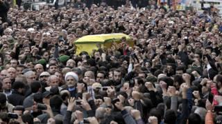 تشییع جنازه جهاد مغنیه