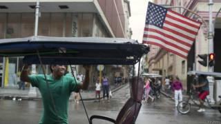 Велорикша на улицах Гаваны