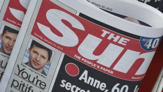 Шапка газеты Sun