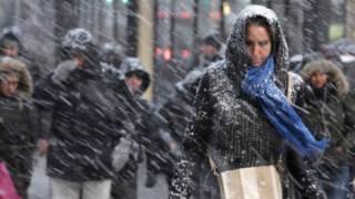 Nevasca em Nova York (foto: AP)