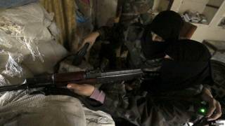 Участницы женского батальона в Сирии