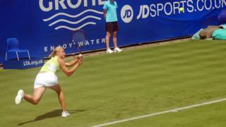 Vera Dushevina playing at International Womens Open, Eastbourne