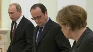 Путін, Меркель і Олланд