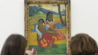 फ़्रांसीसी कलाकार गोगान की पेन्टिंग