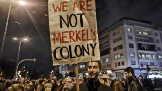 Участники акции протеста против мер жесткой экономии