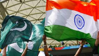 भारत-पाकिस्तान मैच के ध्वज