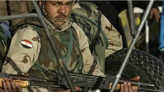 Ejército egipcio en foto de archivo