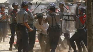 Letpadan Protesters were broken down in March