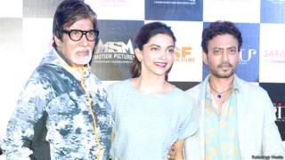 अमिताभ बच्चन, दीपिका पादुकोण, इरफ़ान ख़ान
