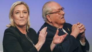 Марин и Жан-Мари Ле Пен (29 ноября 2014 года)