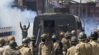 कश्मीर विरोध प्रदर्शन