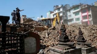 Разрушенный землетрясением Катманду