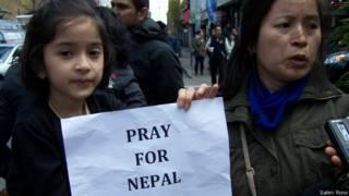 अमरीका में नेपाली माँ और बेटी मदद के लिए अपील करते हुए