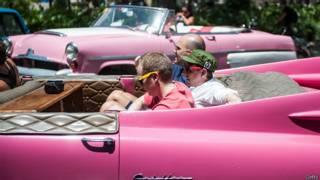 Turistas em Cuba   Foto: Getty