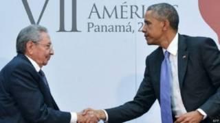 राष्ट्रपति बराक ओबामा और क्यूबा के राष्ट्रपति